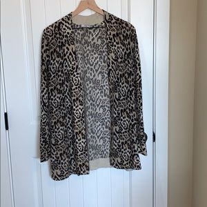 Cashmere By Charter Club leopard cardigan.